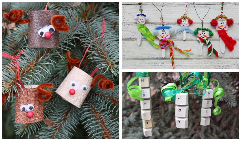 30 cute recycled diy christmas crafts for Diy recycled art