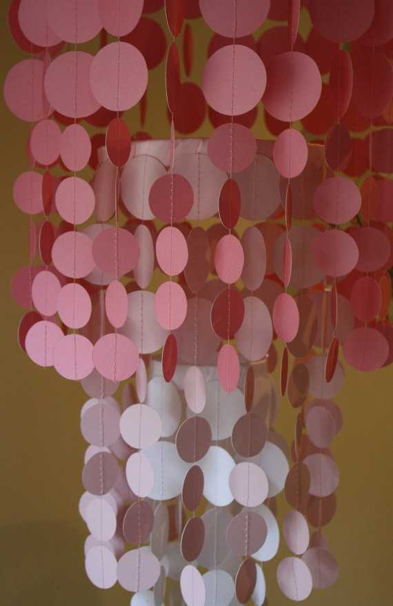 Make chandelier out paper images for Room decor out of paper