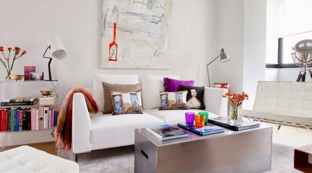 A feminine and unique mini loft in Madrid