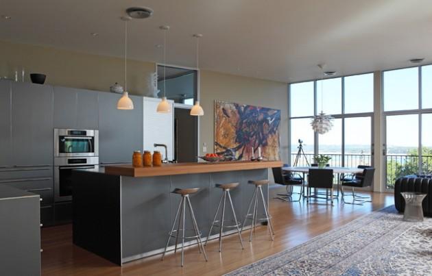 30 Elegant Contemporary Breakfast Bar Design Ideas on Modern:0Bjn4Cem9Be= Kitchen Counter  id=86700