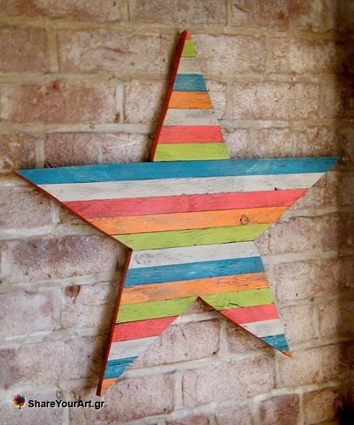 30 Fantastic DIY Pallets Wall Art Ideas