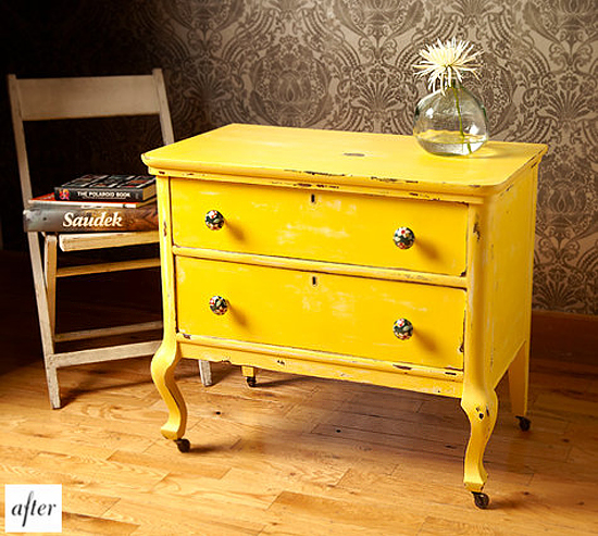 23 expressive yellow painted furniture ideas