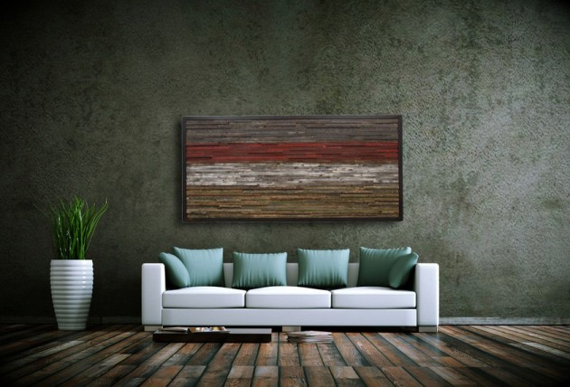 16 Magnificent Examples of Reclaimed Wood Wall Art (10)