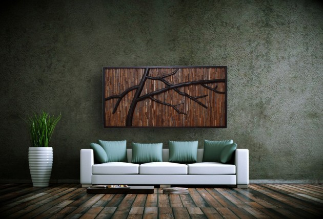 16 Magnificent Examples of Reclaimed Wood Wall Art (4)