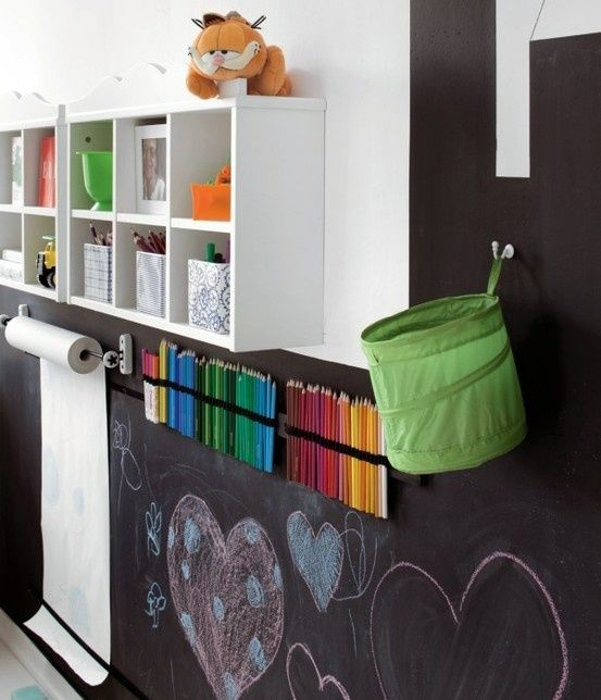 Kids Room Wall Ideas: 30 Fun Chalkboard Paint Ideas For Kids Room