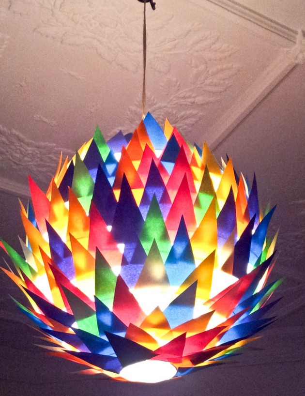 25 Artistic Handmade Paper Lampshades