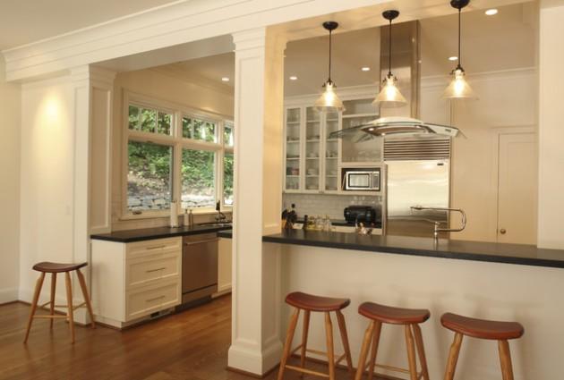30 Elegant Contemporary Breakfast Bar Design Ideas. Kitchen ...