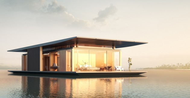 Stunning Floating Home Designed By Dymitr Malcew