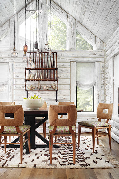 Magical White Cabin Interior Design By The Lake