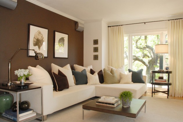 30 Great Design Ideas of Living Rooms With Accented Walls