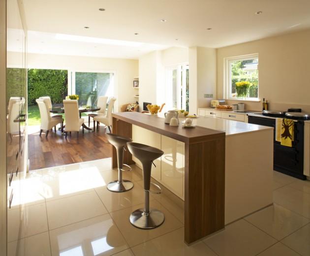 30 Elegant Contemporary Breakfast Bar Design Ideas