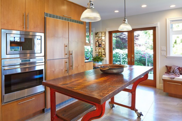 22 Industrial Kitchen Island Designs For Retro Look of the Kitchen