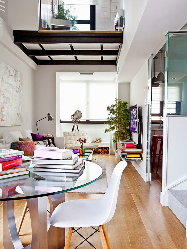 A feminine and unique mini loft in Madrid