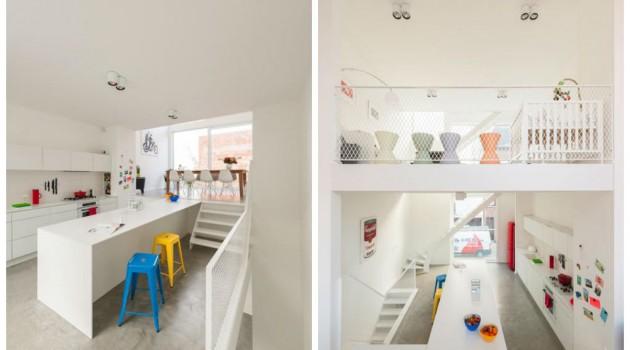 A completely white interior design
