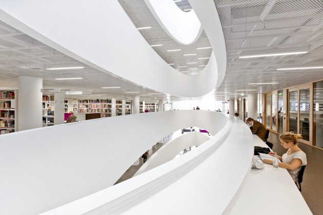 The Main Library at the Helsinki University in Finland