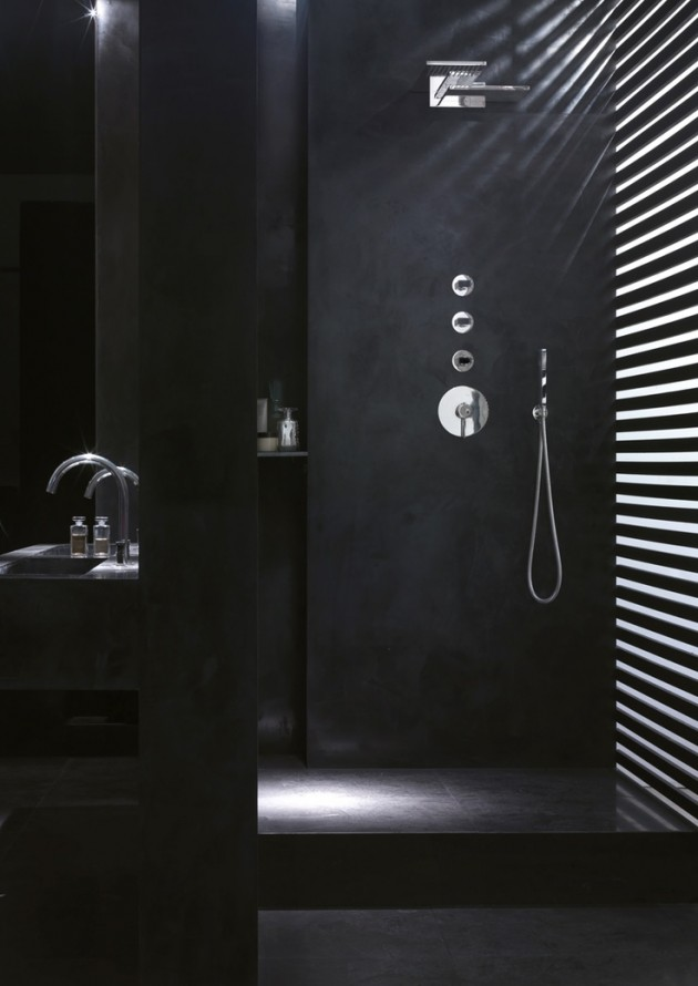 30 astonishing black bathroom designs for Black bathroom designs