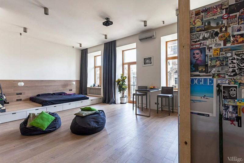 studio apartment inside.  Functional 58 Sqm Open Studio Apartment In Kiev Ukraine