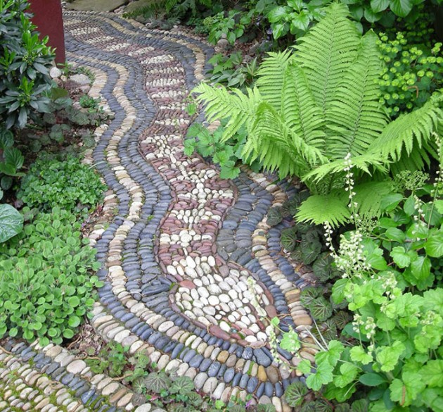 Pebble Mosaic Garden Path