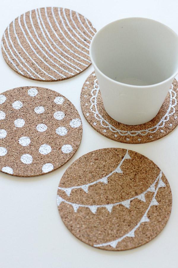 26 Unique & Cool DIY Coasters Design Ideas