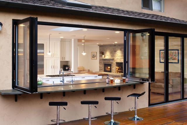 19 super practical indoor outdoor serving bar ideas - Cocina para bar ...