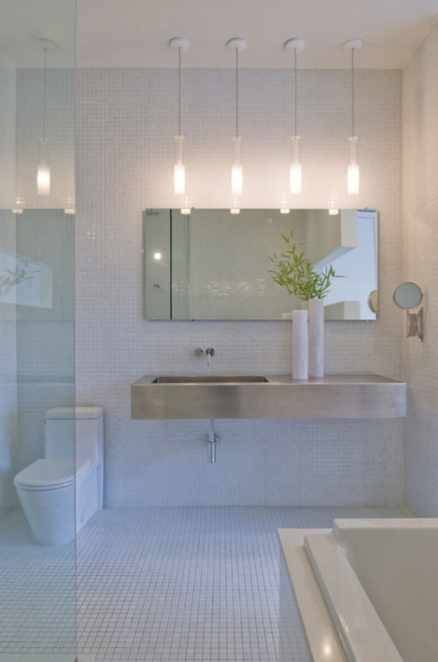 Bathroom Chandelier Lighting Over Vanity