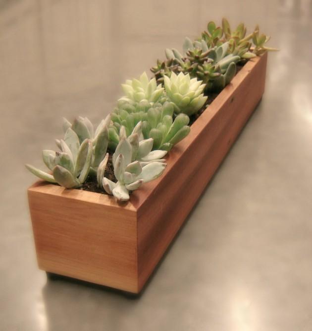 16 Minimalistic Handmade Wooden Planter Designs (14)