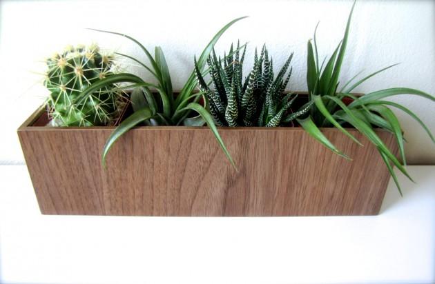16 Minimalistic Handmade Wooden Planter Designs (4)