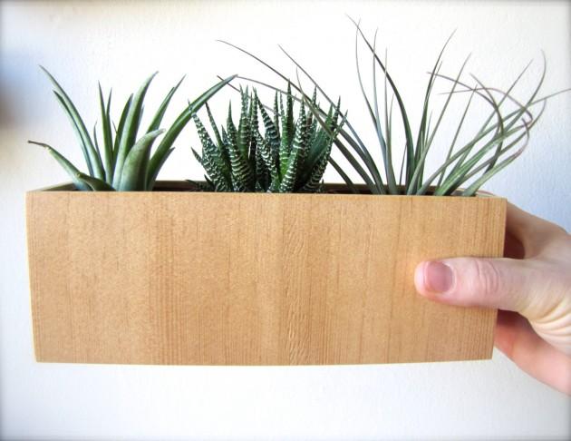 16 Minimalistic Handmade Wooden Planter Designs (6)