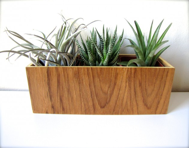 16 Minimalistic Handmade Wooden Planter Designs (8)