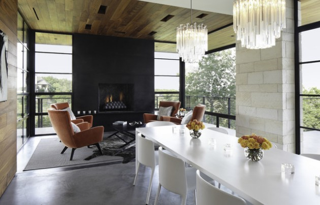 21 Attractive Dining Room FIreplace Ideas for Pleasant Ambience