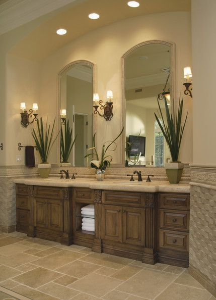 25 amazing bathroom light ideas - Traditional bathroom mirror with lights ...