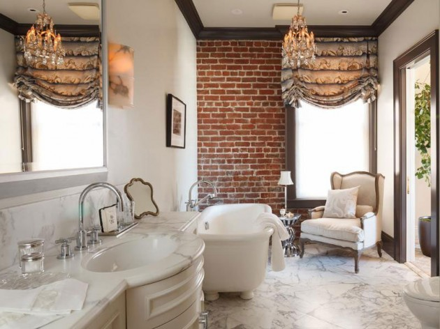 Beau 27 Absolutely Gorgeous Bathroom Design Ideas With Brick Walls