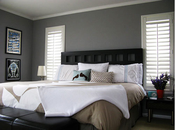 30 stunning bedroom design ideas in grey color for Bedroom inspiration grey walls