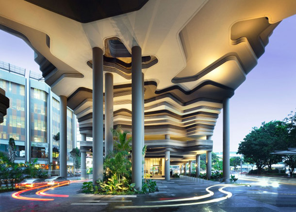 Hotel Parkroyal, Singapore  Astonishing Construction Which Delights