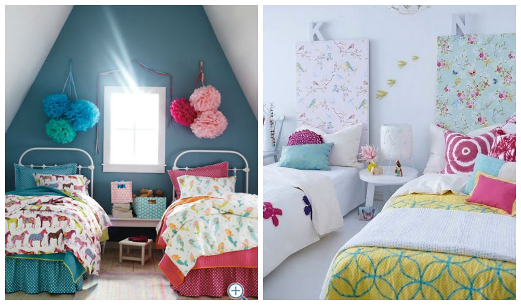 22 adorable girls shared bedroom designs for Shared bedroom ideas