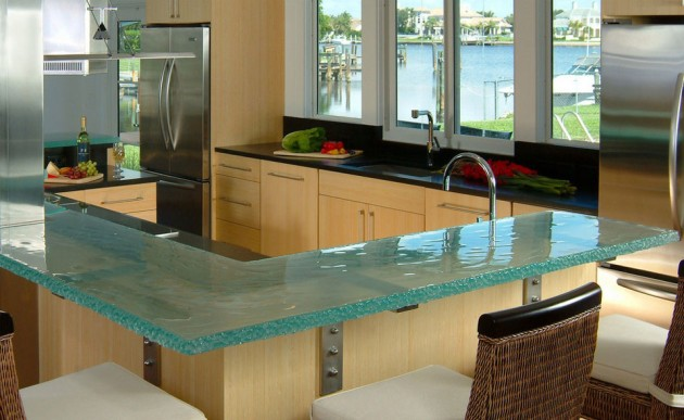 Adorable Stylish Gl Kitchen Countertop Design Ideas