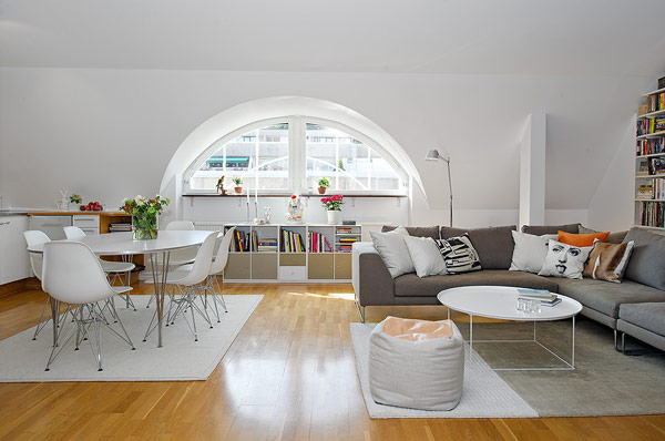 Stunning Attic Apartment in Gothenburg, Sweden