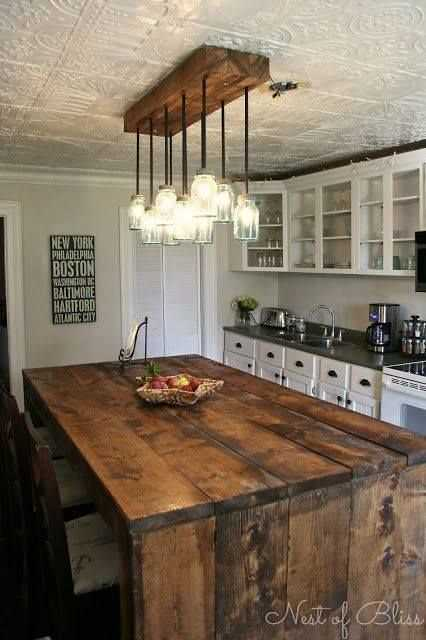 30 rustic diy kitchen island ideas On rustic kitchen island ideas
