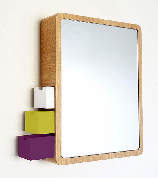PRECIOUS: Contemporary Mirror & Fashion Accessories Storage, 2 in 1