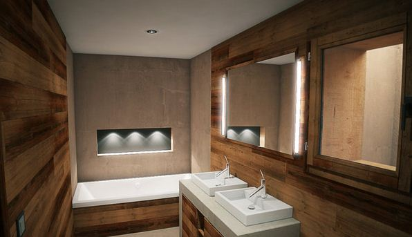 18 exquisite contemporary wooden bathroom design ideas. Black Bedroom Furniture Sets. Home Design Ideas