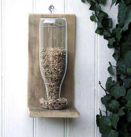 25 Lovely DIY Upcycled Birdfeeders