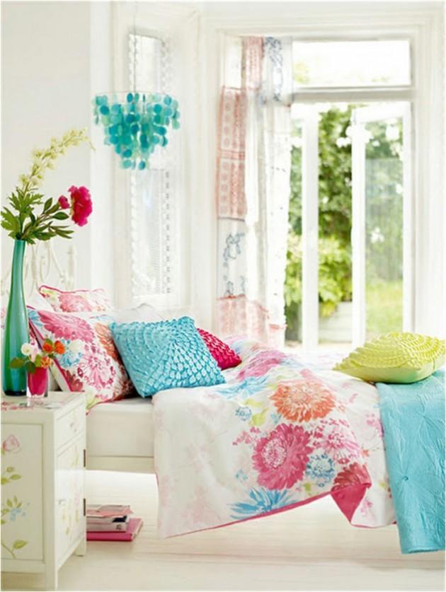 20 teen girls bedroom designs decorating ideas design for Bright teenage bedroom designs