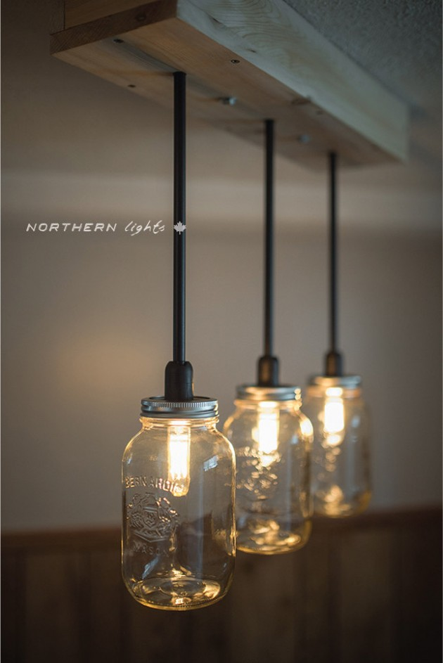 Unique handmade pendant light designs best home design for Hanging lights made from mason jars