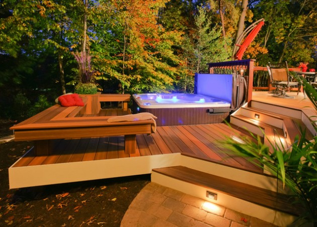 Enter a Piece of The Haven in Your Home 20 Divine Outdoor Hot Tub Designs