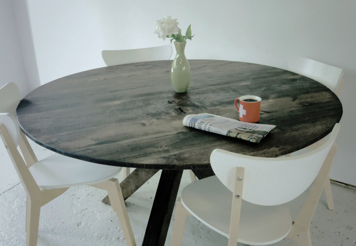 Dining Table For Small Room Extraordinary Home Ideas For  Reclaimed Wood Round Table Top  Table Tops Inspiration Design
