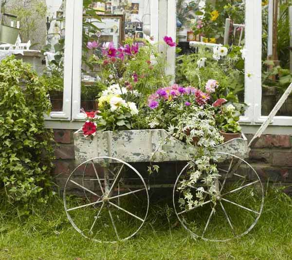 The best 30 diy vintage garden project you need to try for Flower garden decorations