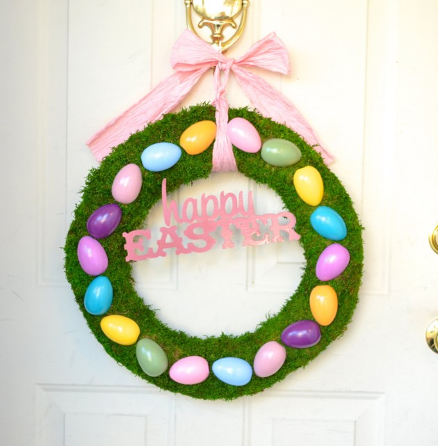 21 Colorful Handmade Easter Wreath Designs