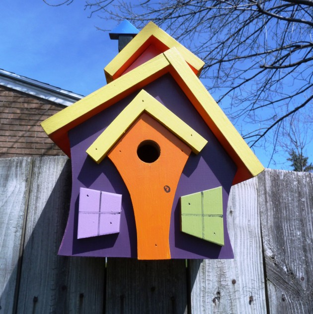 21 cute bird houses handmade from wood - Birdhouse Design Ideas