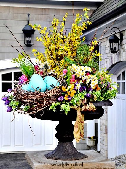 30 Lovely Easter Outdoor Decorations