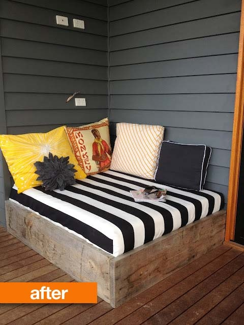 21 Or An Outdoor Reading Nook From Reclaimed Wood And A Mattress 22 Easy Fun Diy Furniture Ideas